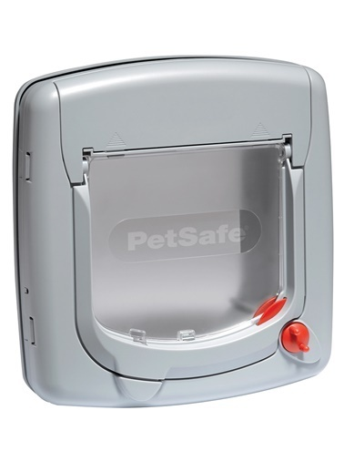 PETSAFE Petsafe 340 Ef Staywell Deluxe Manuel 4 Yönlü Kilitli Kapı Gri Gri
